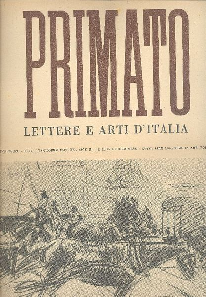 La copertina di un numero di 'Primato, lettere e arti d'Italia'