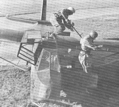 Un aliante DFS 230 da vicino