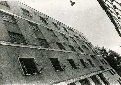 La palazzina di via Tasso a Roma, prima ufficio tedesco di reclutamento per la Germania, poi, dalla fine del 1943 al giugno 1944, carcere tedesco gestito dalle 'SS' in una foto del 1944 di Corrado Lampe