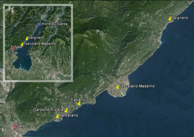 cartina del lago di Garda